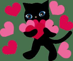 Kuro of the stray cat and Piyo sticker #454707