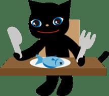 Kuro of the stray cat and Piyo sticker #454718