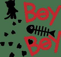 Kuro of the stray cat and Piyo sticker #454720