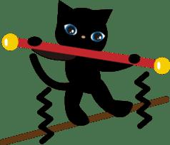 Kuro of the stray cat and Piyo sticker #454725
