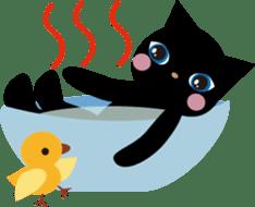Kuro of the stray cat and Piyo sticker #454726