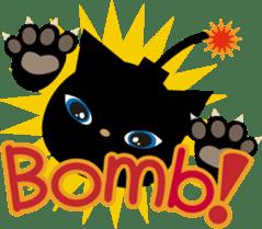 Kuro of the stray cat and Piyo sticker #454728