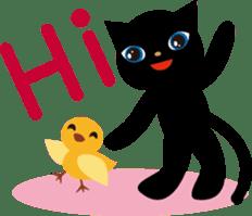 Kuro of the stray cat and Piyo sticker #454731