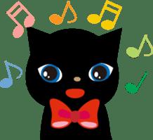 Kuro of the stray cat and Piyo sticker #454735