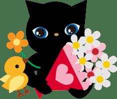 Kuro of the stray cat and Piyo sticker #454736