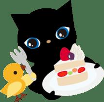 Kuro of the stray cat and Piyo sticker #454743