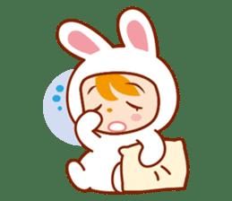Girl wearing a rabbit sticker #455422