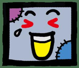 ZOMBIE Square Face sticker #455426