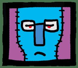ZOMBIE Square Face sticker #455431