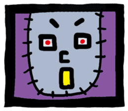 ZOMBIE Square Face sticker #455432