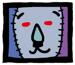 ZOMBIE Square Face sticker #455433
