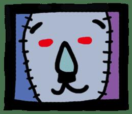 ZOMBIE Square Face sticker #455433
