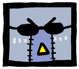 ZOMBIE Square Face sticker #455434
