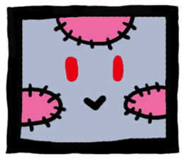 ZOMBIE Square Face sticker #455438