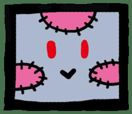 ZOMBIE Square Face sticker #455438