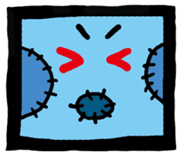 ZOMBIE Square Face sticker #455439