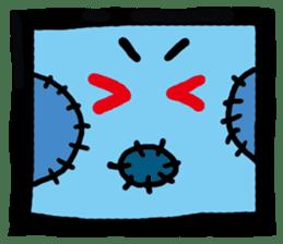 ZOMBIE Square Face sticker #455439