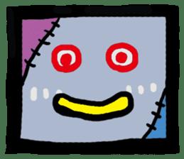 ZOMBIE Square Face sticker #455440