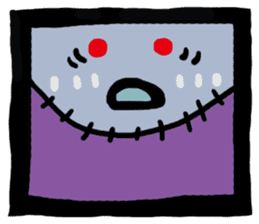 ZOMBIE Square Face sticker #455441