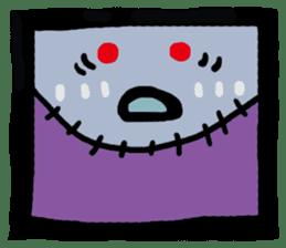 ZOMBIE Square Face sticker #455441