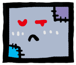 ZOMBIE Square Face sticker #455442
