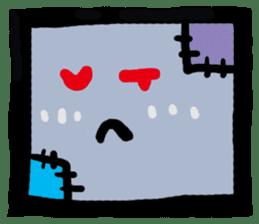 ZOMBIE Square Face sticker #455442