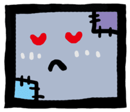 ZOMBIE Square Face sticker #455443