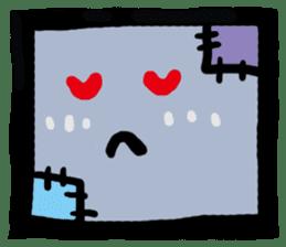 ZOMBIE Square Face sticker #455443