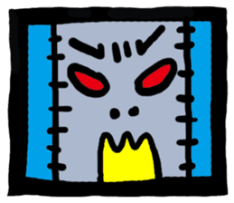 ZOMBIE Square Face sticker #455444
