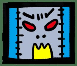 ZOMBIE Square Face sticker #455444