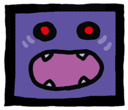 ZOMBIE Square Face sticker #455445