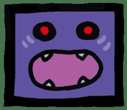 ZOMBIE Square Face sticker #455445