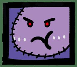 ZOMBIE Square Face sticker #455447