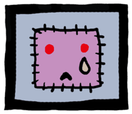 ZOMBIE Square Face sticker #455449