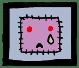 ZOMBIE Square Face sticker #455449