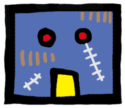 ZOMBIE Square Face sticker #455451