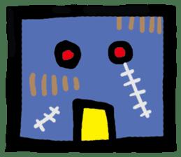 ZOMBIE Square Face sticker #455451