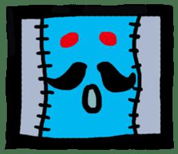 ZOMBIE Square Face sticker #455452
