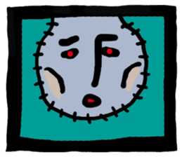 ZOMBIE Square Face sticker #455453