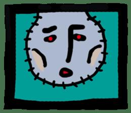 ZOMBIE Square Face sticker #455453