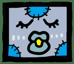 ZOMBIE Square Face sticker #455454