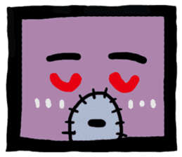 ZOMBIE Square Face sticker #455456