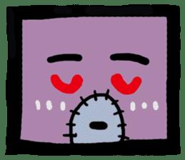 ZOMBIE Square Face sticker #455456