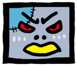 ZOMBIE Square Face sticker #455457