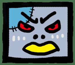 ZOMBIE Square Face sticker #455457