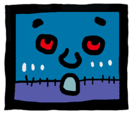 ZOMBIE Square Face sticker #455458