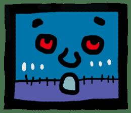 ZOMBIE Square Face sticker #455458