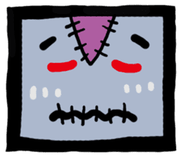 ZOMBIE Square Face sticker #455461