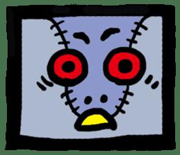 ZOMBIE Square Face sticker #455462