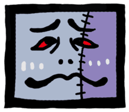 ZOMBIE Square Face sticker #455463